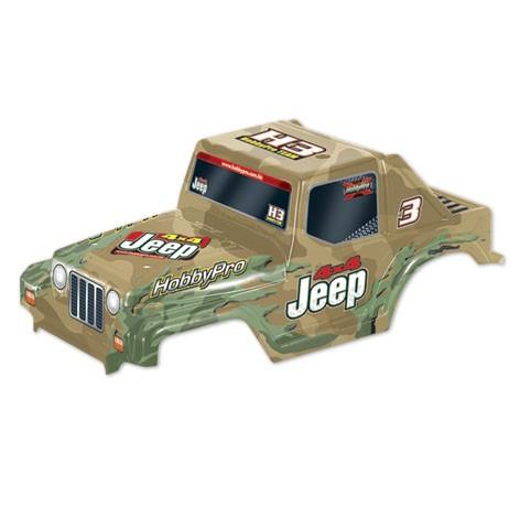 H33 1:10 Off Road Jeep Body- Khaki