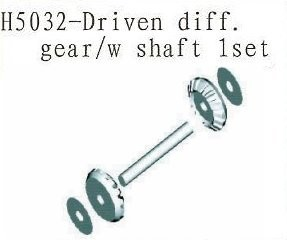 H5032 Driven Differential Gear with Shaft