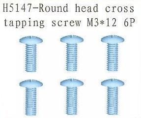 H5147 Round Head Cross Tapping Screw M3x12