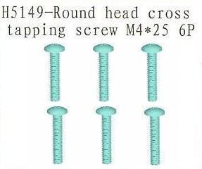H5149 Round Head Cross Tapping Screw M4*25