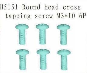 H5151 Round Head Cross Tapping Screw M3*10