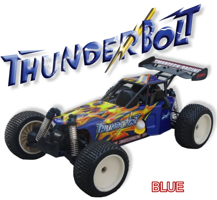 053420-1 Thunderbolt 4WD Off-road Car (2.4G Digital Pistol Radio)-BLUE BLACK