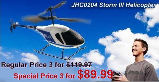 JHC0204 - Storm III Helicopter Collect All 3 Flight Modes: BAND A/B/C