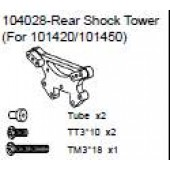 104028 Rear Shock Tower + Tube x2 + Philip Screw TM3*10 x3 & TT3*18 x2