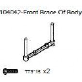 104042 Front Brace Of Body + Phillip Screw TT3*15 x2
