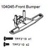 104045 Front Bumper + Philip Screw TPF3*18 x1 + TPF3*10 x2