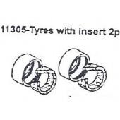 11305 Tires w/ Insert 2PCS