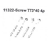 11322 Screw TT3*40 4PCS