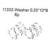 11332 Washer 0.25*10*14 6PCS