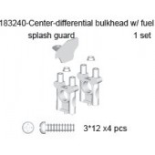 183240 Center Differential Bulkhead w/ Fuel Splash Guard