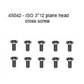 45042 ISO 3*12L Plane Head Cross Screw