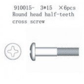 910015 Round end Crossing Screw PT3*15