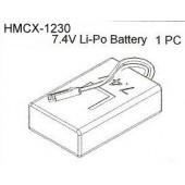 HMCX-1230 Lipo Battery Set 7.4V 800mah