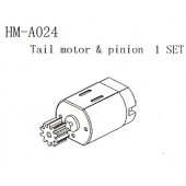HM-A024 Tail Motor & Pinion