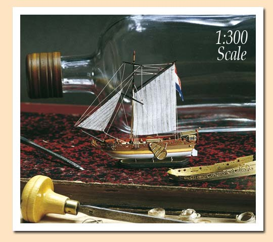 Golden Yacht Ship-in-a-Bottle Kit - Amati kit AM1350