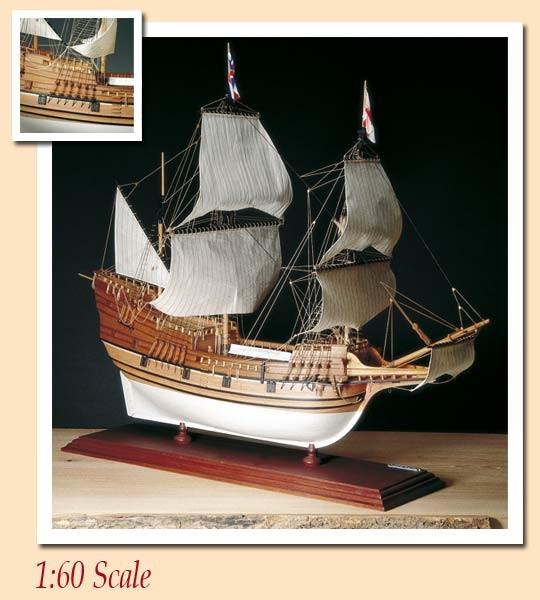 Amati Mayflower wooden ship model kit - AM1413