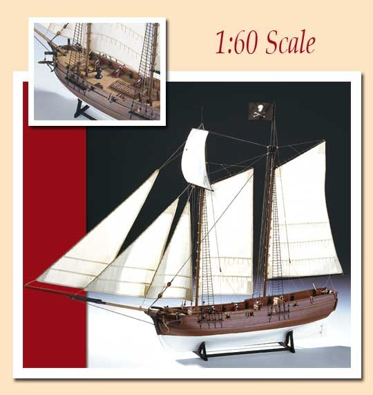 "AM1446 Amati Pirate Ship ""Adventure"""