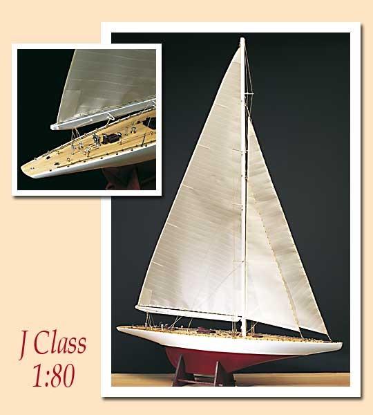 Ranger J Class, U.S. 1937 Defender, Pre-Carved Solid Wood Hull - Amati Model Boat Kits AM1700/54