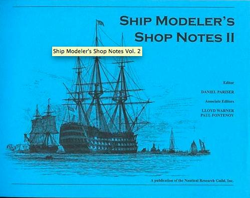 Ship Modeler's Shop Notes II book - NRGB002