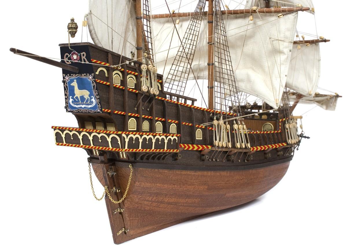 OcCre Golden Hind, wooden ship model kit - OC12003