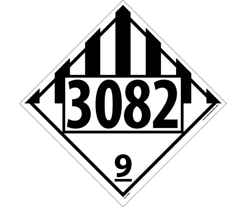 Environmental Hazard Liquid Permanent 4 Digit Placard Dl149 4