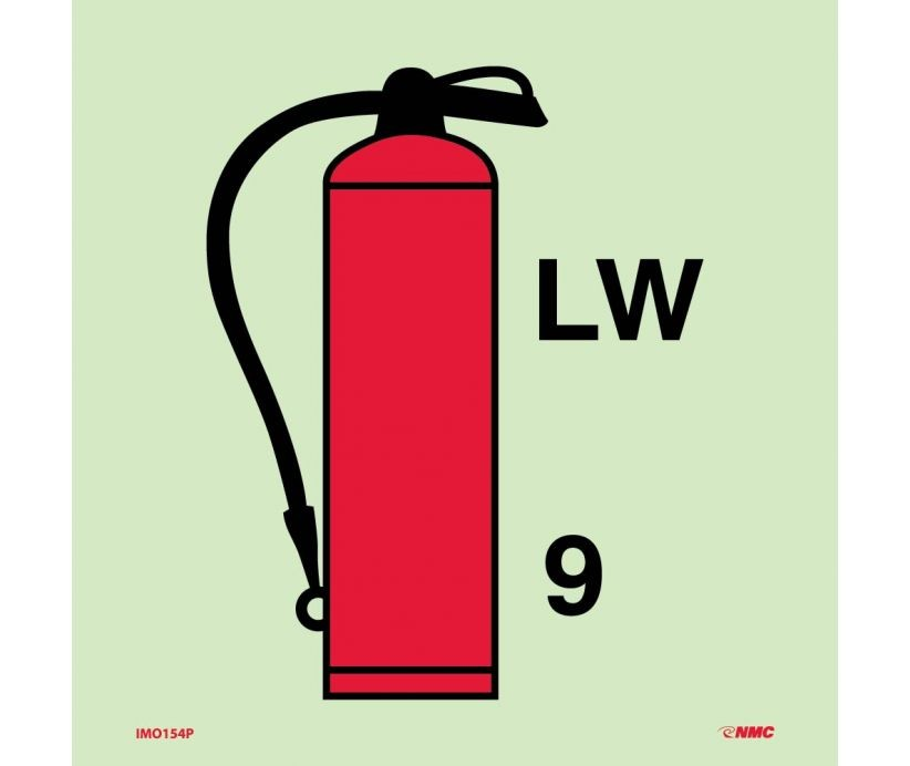Symbol Fire Extinguisher Foam Imo Label Imo154 International