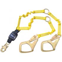Force2™ Hi-Vis Elastic 100% Tie-Off Shock Absorbing Lanyard (#1246152)