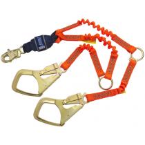 Force2™ Hi-Vis Elastic 100% Tie-Off Shock Absorbing Lanyard (#1246150)