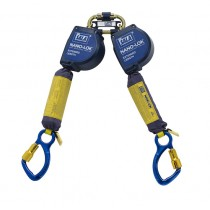 Nano-Lok™ Extended Length Twin-Leg Quick Connect Self Retracting Lifeline - Web (#3101622)