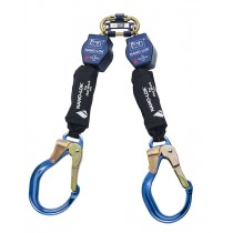 Nano-Lok™ Twin-Leg Quick Connect Self Retracting Lifeline - Web - For Hot Work Use (#3101505)