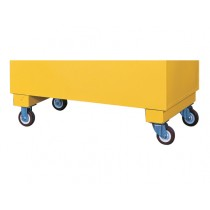 Justrite Flammable Casters For Safety/Storage Chest, Set of 4, 2000lb. Cap., 2 Locking (#16043)