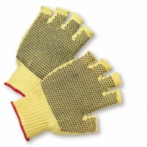 PVC Dotted Regular Weight Kevlar Fingerless Gloves, Men's (#35KDF)
