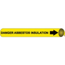Danger Asbestos Insulation Precoiled Pipe Marker (#4033N)