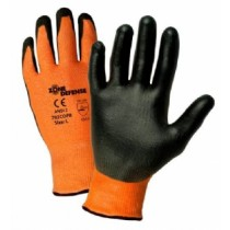 Orange HPPE Shell with Black Polyurethane Foam Palm Coat (#703COPB)
