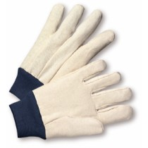 Cotton/Poly 10oz. Canvas Gloves with Navy Blue Knit Cuff (#710BKWK)