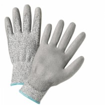 Gray Polyurethane Coated Speckle Gray HPPE Fiber Gloves (#720DGU)