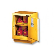 Justrite Under Fume Hood Solvent/Flammable Liquid Safety Cabinet, 1 Shelf, Manual Right Hand Door, 15 Gallon Cap. (#882400)
