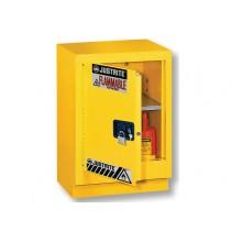 Justrite Under Fume Hood Solvent/Flammable Liquid Safety Cabinet, 1 Shelf, Manual Left Hand Door, 15 Gallon Cap. (#882410)