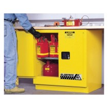 Sure-Grip EX Undercounter Flammable Safety Cabinet, 1 Shelf, Manual Doors, 22 Gallon Cap. (#892300)