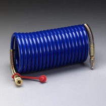 3M™ Supplied Air Hose, Industrial Interchange Fittings, High Pressure, Coiled, 100' (#W-2929-100)