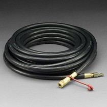 3M™ Supplied Air Respirator Hose, Industrial Interchange Fittings, High Pressure, 50' (#W-9435-50)