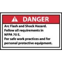 Arc Flash Danger Label (#DGA59AP)