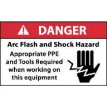 Arc Flash Danger Label (#DGA61AP)