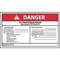 Arc Flash Danger Label (#DGA64AP)