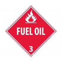 Fuel Oil Class 3 DOT Placard (#DL100)