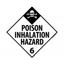 Poison Inhalation Hazard Class 6 DOT Placard (#DL125)