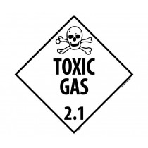 Toxic Gas Class 2.1 DOT Placard (#DL126)