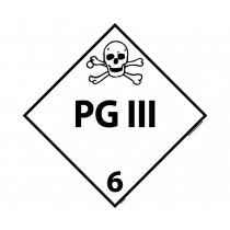 PG III Class 6 DOT Placard (#DL127)