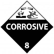 Corrosive Class 8 DOT Placard (#DL12)