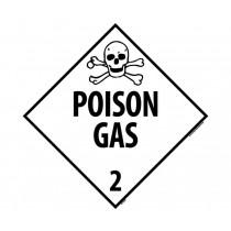 Poison Gas Class 2 DOT Placard (#DL132)